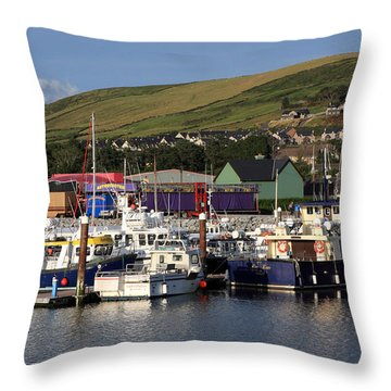 Dingle Harbour County Kerry Ireland Throw Pillow