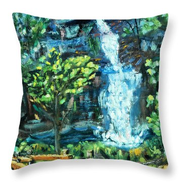 Dingman Falls Eastern Pennsylvania Throw Pillow