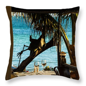 Dining For Two At Louie's Backyard Throw Pillow