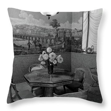 Dining Room In Helena Rubinstein's Home Throw Pillow