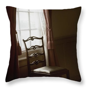 Dining Room Window Throw Pillow by Margie Hurwich