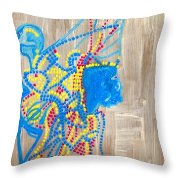 Dinka Angel Bride - South Sudan Throw Pillow by Gloria Ssali