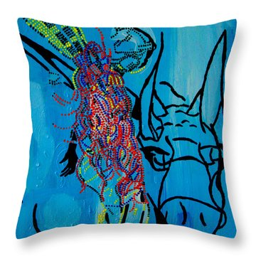 Dinka Groom - South Sudan Throw Pillow