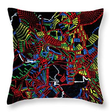 Dinka Joy Three - South Sudan Throw Pillow by Gloria Ssali