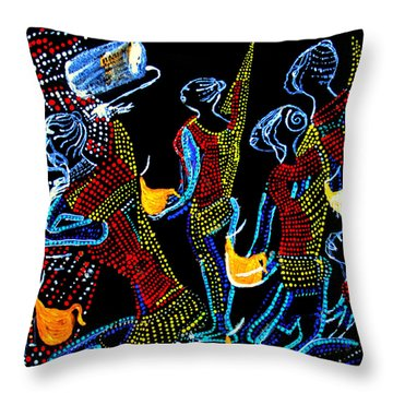 Dinka Wise Virgins Throw Pillow