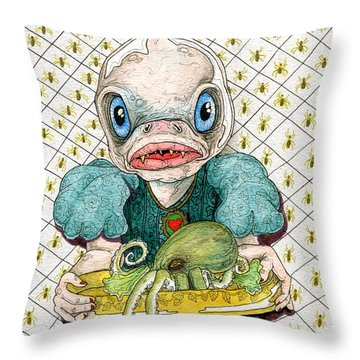 Dinner At Eight Throw Pillow