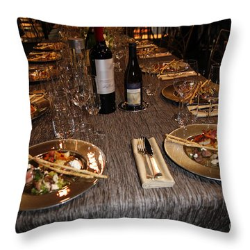 Dinner Is Served Throw Pillow by Nina Prommer