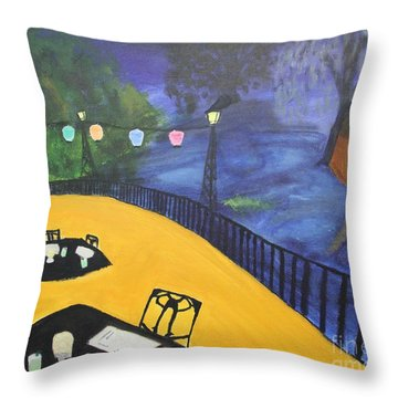 Dinner On The Bayou Throw Pillow
