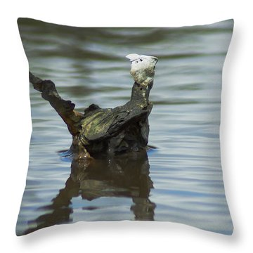 Dino Shell Throw Pillow by Kim Pate