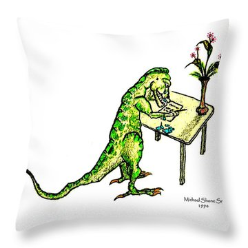 Dinosaur Get Well Sorry Miss You Condolences Sympathy Blank Throw Pillow