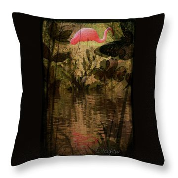 Throw Pillow featuring the digital art Dinosaurs Among Us by Delight Worthyn