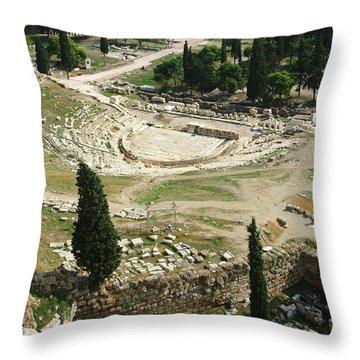 Dionysus Amphitheater Throw Pillow