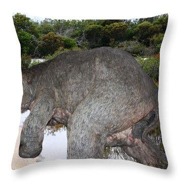Throw Pillow featuring the photograph Diprotodon by Miroslava Jurcik