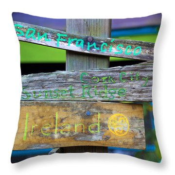Directions In Life Throw Pillow by Kandy Hurley