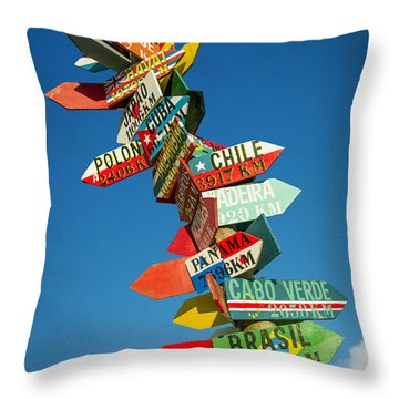 Directions Signs Throw Pillow