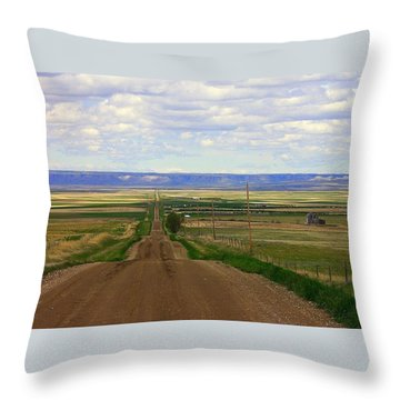 Dirt Road To Forever Throw Pillow
