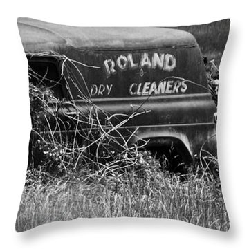 Throw Pillow featuring the photograph Dirty Laundry by Rebecca Sherman