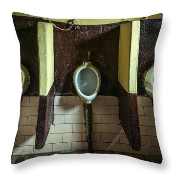 Dirty Urinals Throw Pillow