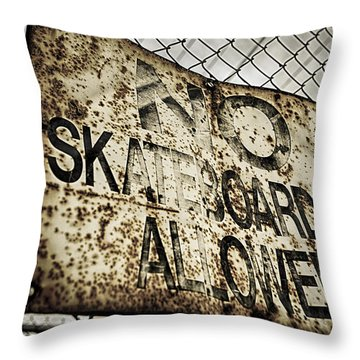 Disallowed Throw Pillow by Caitlyn  Grasso