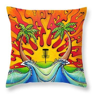 Disc Golfers Paradise Throw Pillow
