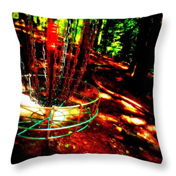 Discin Colors Throw Pillow