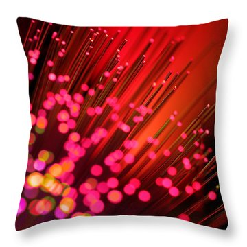 Throw Pillow featuring the photograph Disco Inferno by Dazzle Zazz