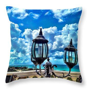 Discover Aruba Throw Pillow