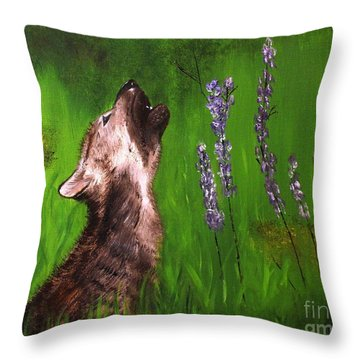 Discovering His Voice Throw Pillow by Bev Conover
