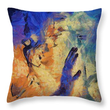 Throw Pillow featuring the painting Discovering Yourself by Joe Misrasi