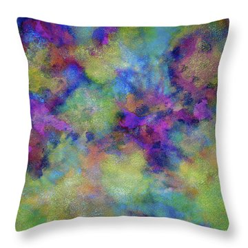 Throw Pillow featuring the painting Discovery by  Heidi Scott