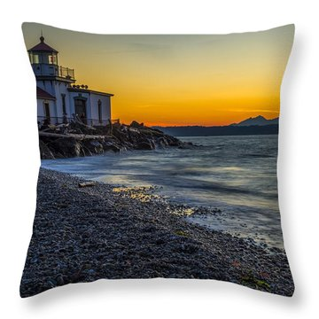Throw Pillow featuring the photograph Discovery Park Sunset by Ken Stanback