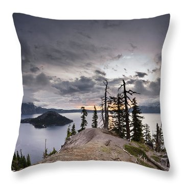 Discovery Point At Dawn Throw Pillow by Greg Nyquist