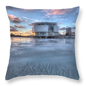 Discovery World On Ice Throw Pillow