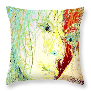 Disillusionment Throw Pillow by Jacqueline McReynolds