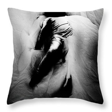 Disintegration Throw Pillow by Jessica Shelton