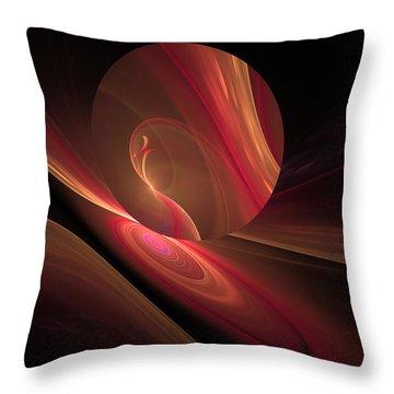Disk Swirls Throw Pillow by GJ Blackman