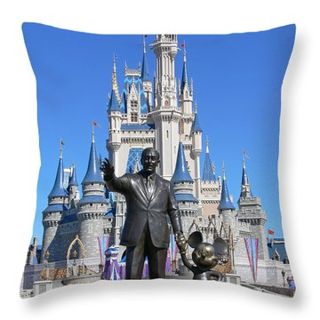 Disney And Mickey Throw Pillow