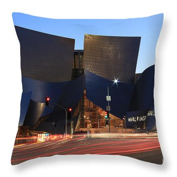 Throw Pillow featuring the photograph Disney Concert Hall by Kevin Ashley