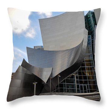 Throw Pillow featuring the photograph Disney Hall by Gandz Photography
