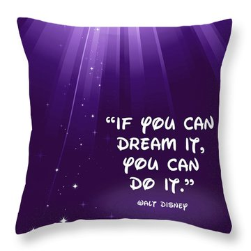 Throw Pillow featuring the digital art Disney's Dream It by Nancy Ingersoll