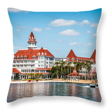 Disney's Grand Floridian Resort And Spa Throw Pillow by Sara Frank