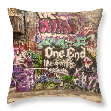 Disorderly Conduct Throw Pillow