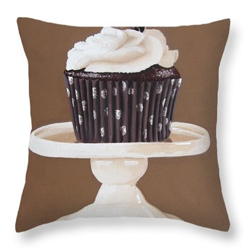 Display Of Mocha Throw Pillow