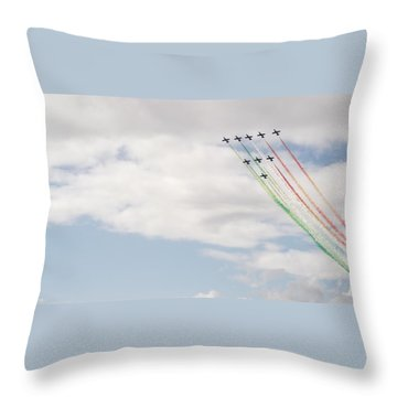Displaying The Flag Throw Pillow