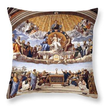 Disputation Of The Eucharist  Throw Pillow