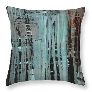 Throw Pillow featuring the painting Dissolve C2011 by Paul Ashby