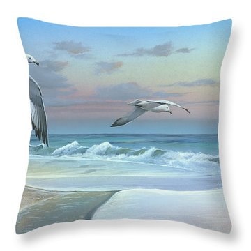 Throw Pillow featuring the painting Dissolving Time by Mike Brown