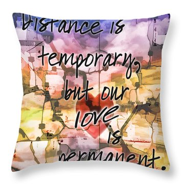 Distance Throw Pillow by Anthony Citro