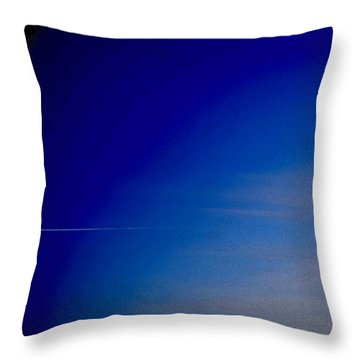 Throw Pillow featuring the photograph Distant Flight 5  by Lyle Crump