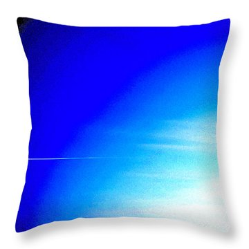 Throw Pillow featuring the photograph Distant Flight 6  by Lyle Crump